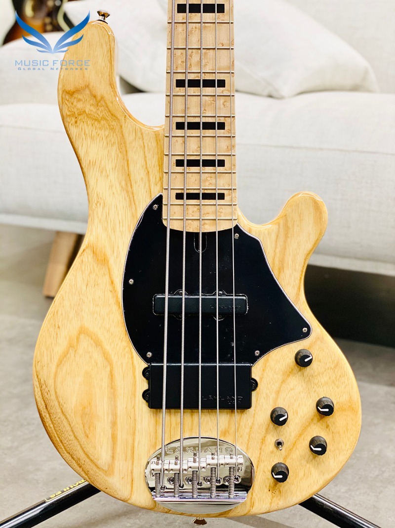 [2021 Spring Sale(~5/31까지)] Lakland US Custom 55-94 Standard-Natural w/Roasted Birdseye Maple Neck, Birdseye Maple FB & Black Block Inlay(2019년산/신품)