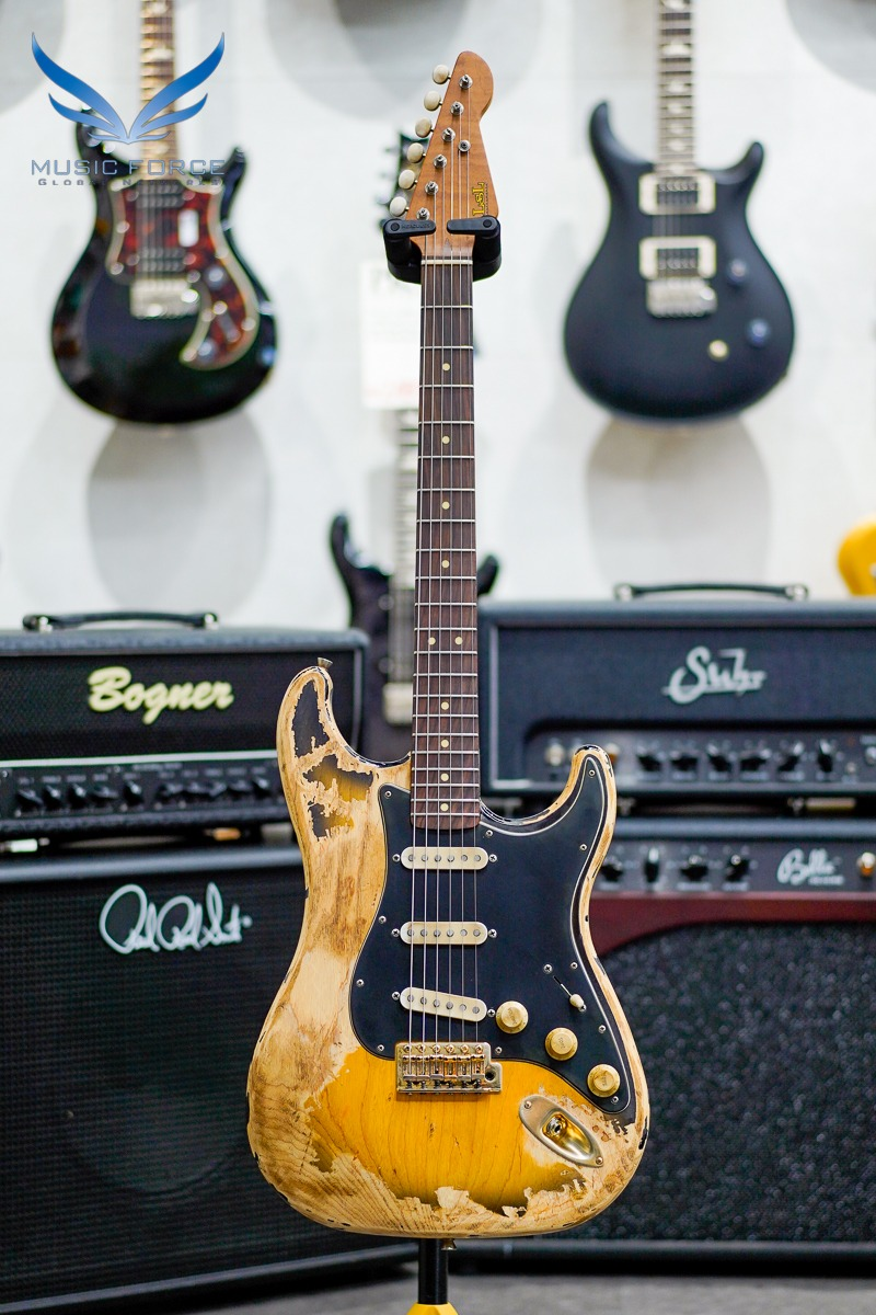 [2021 Spring Sale(~5/31까지)] LSL Saticoy Extreme Relic SSS-2 Tone Sunburst w/Black PG, Gold HW, Roasted Maple Neck & Rosewood FB(2020년산/신품)