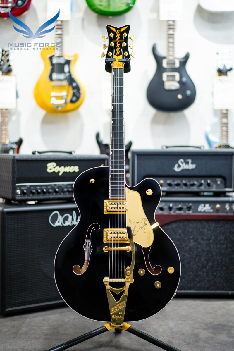 [2021 Spring Sale(~5/31까지)] Gretsch G6136T-BLK Players Edition FALCON HOLLOW BODY-Black Falcon (2018년산/신품) 그레치 블랙 팔콘